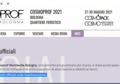 Estetica e Acconciatura, Cosmoprof Bologna slitta al 27-31 maggio 2021