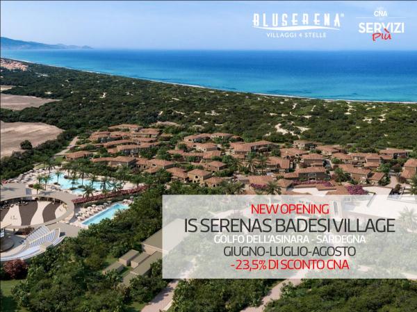Bluserena Villaggi 4 stelle e Resort 5 stelle: quote speciali per CNA