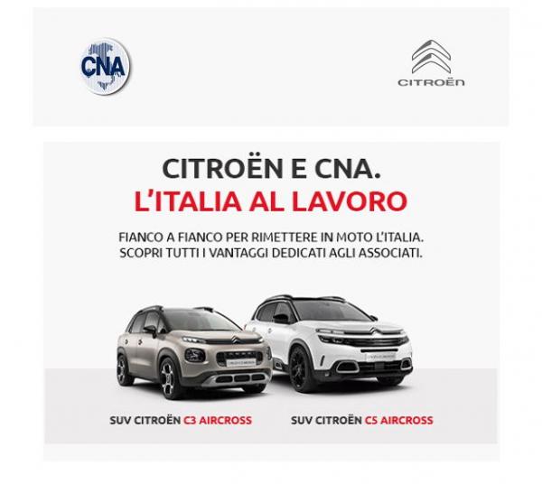 Scopri i bonus Citroën su tutta la gamma per i soci CNA!