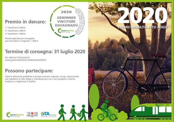 Candidature della imprese associate a CNA-SHV per il Premio Mobilità Alto Adige 2020