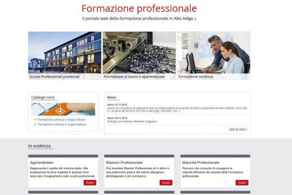 Formazione professionale, online il nuovo portale web