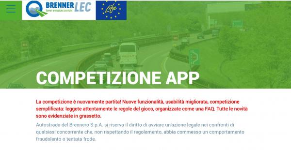 Progetto BrennerLEC sull'Autostrada del Brennero, riparte il concorso a premi