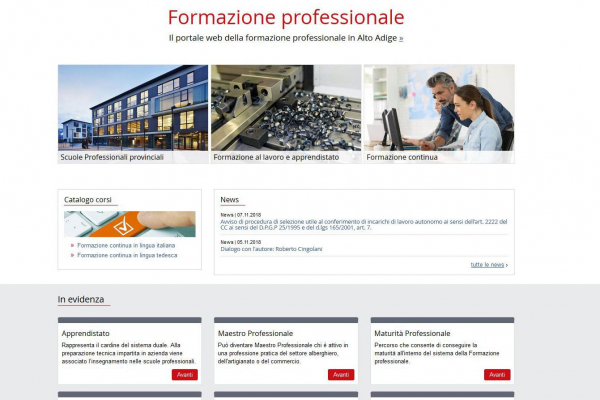 Berufsbildung: Neue Webseite online