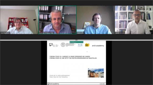 """""""Covid-19, le prime esperienze nei cantieri"""". Seminario di arch.academy, Corrarati (CNA-SHV) relatore"""