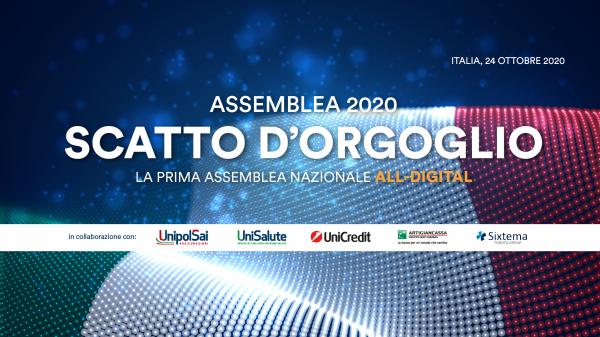 Assemblea CNA 2020: scatto d'orgoglio. Partecipa il premier Conte. Connettiti sabato 24 ottobre alle ore 10.30