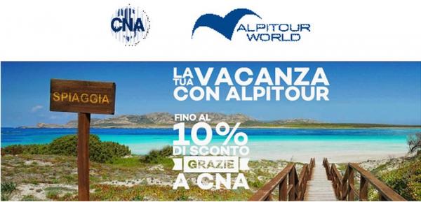 Con Alpitour il tuo miglior viaggio e grazie a CNA lo sconto è importante. E se vai in Grecia un extra per te